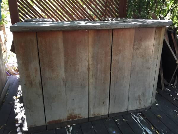Photo Wood Bar, Very large 839 Custom-made Solid Mahogany Leather Barstools (Sacramento)