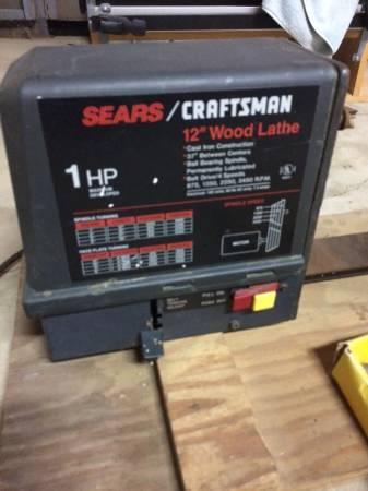 Photo Wood Lathe Craftsman 12 x 37 with Faceplate - $175 (El Dorado Hills)