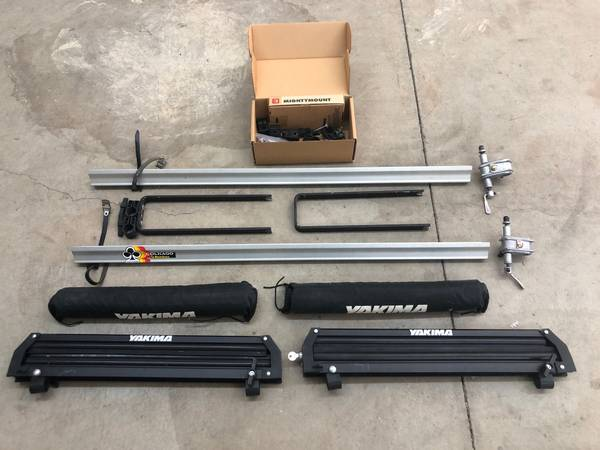 Photo Yakima Roof Rack System Attachments Bicycle, Ski Snowboard Surfboard - $75 (Elk Grove)