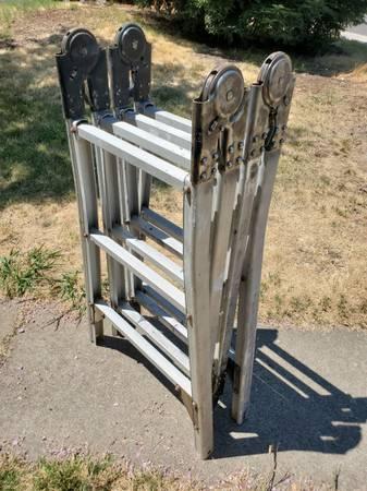 Photo folding ladder - 12 ft max - $75 (Arcade)