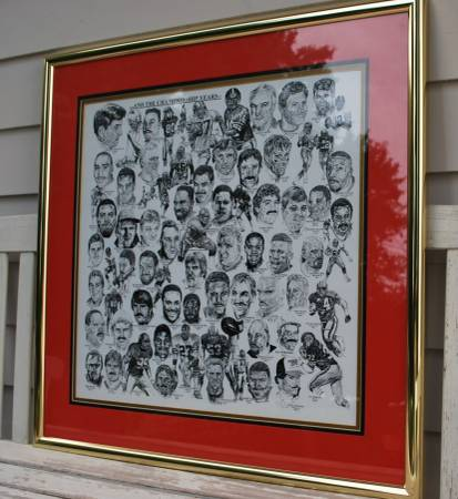 Photo large San Francisco 49ers framed picture like new - $70 (sacramento)