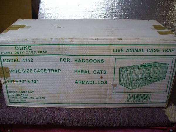 Photo live animal trap Duke model 1112 heavy duty, never used - $45 (Loomis)