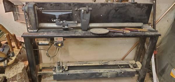 Photo 12 inch Craftsman wood turning lathe with duplicator - $350 (St. Charles)