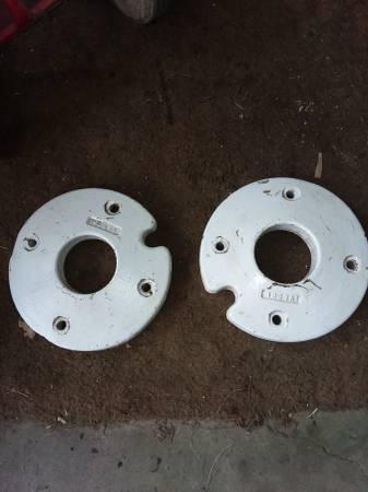 Photo 12quot cast iron garden tractor wheel weights - $125 (Hemlock)