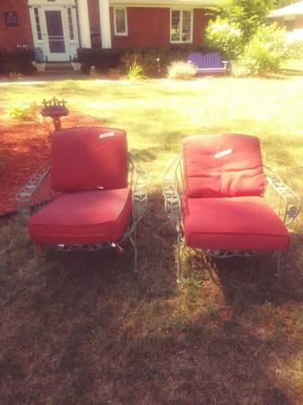 Photo 2 Antique wrought iron chairs - $85 (Saginaw Township)