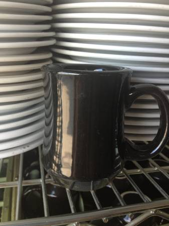 Photo Black commercial grade coffee cups with handles 4quot tall set of 20 - $30 (Midland)