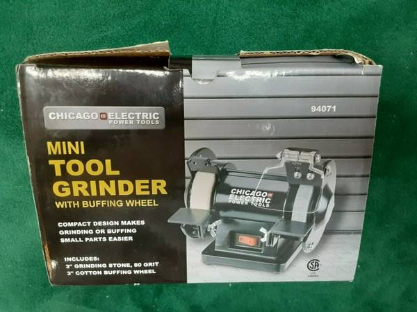 Photo Chicago Electric Brand 3quot Bench Grinder  Buffer - $30 (Bay City)