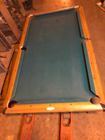 Photo Full Size Kasson Billiards Pool Table 1 piece Slate on Frame Very Nice Body Just - $300 (Bay City)