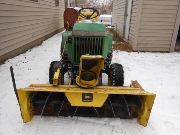 Photo John Deere 49 snow blower off a 316 - $350 (Midland Mi)