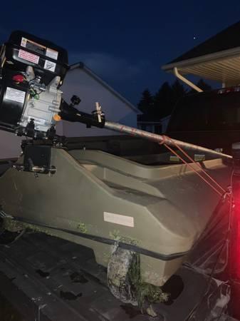Photo Layout boat with mud motor - $1,300 (Saginaw)