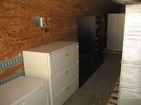 Photo Semi Trailer full of used lateral file cabinets - $120 (Burdick Truck Parts, Hope, MI)