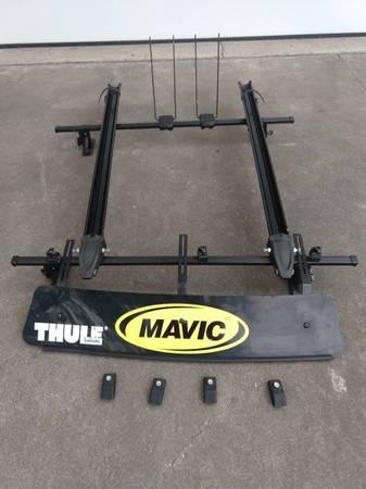 Photo Thule roof rack w bike carriers - $40 (FREELAND)