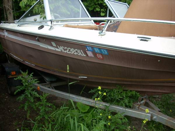 Photo Trailer 16 ft w 1980 Sylvan 16 ft Boat ( for Parts) W Good Trailer - $400 (saginaw)