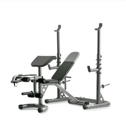 Photo Weider XRS 20 Bench  Weight Rack (never used) - $280 (Midland)