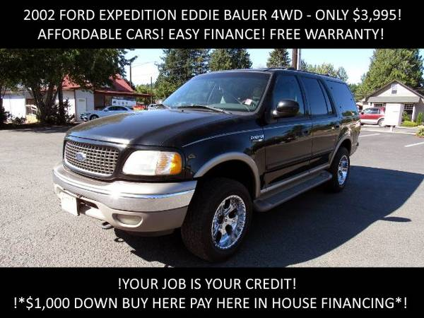 Photo 02 Ford Expedition Eddie Bauer 4WD BUY HERE PAY HERE IN HOUSE FINANCE - $3995 (AFFORDABLE CARS EASY FINANCE)