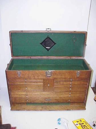 Photo 11 Drawer Gerstner Machinist Tool Chest Box wKey w1940 American Mac - $900 (SE Salem)