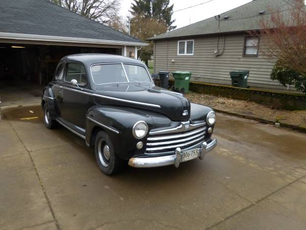 Photo 1947 Ford Super Deluxe Coupe, 274quot Merc Tri-Power Flathead - $18,000 (Sublimity)