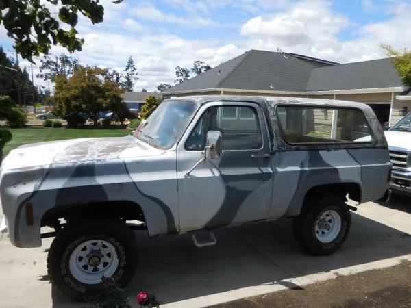 Photo 1977 Chevy K5 Blazer - $3,800 (Sublimity)