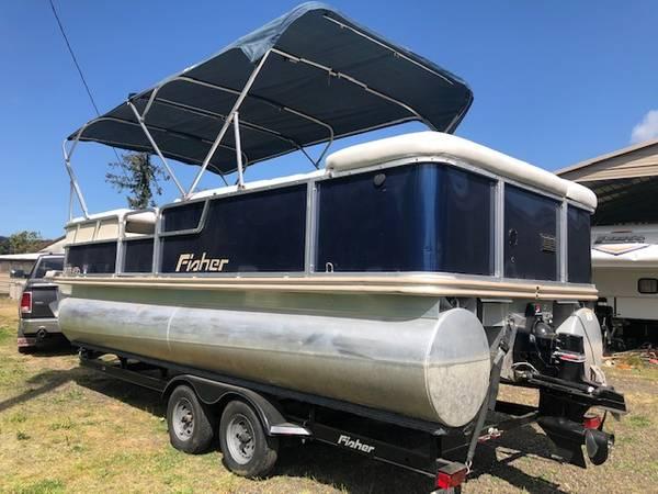 Photo 2004 Fisher Pontoon Boat 22Ft - $19,500 (Dallas)