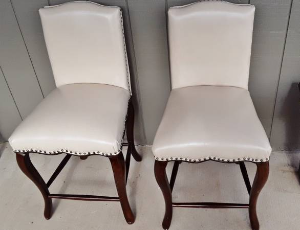 Photo 2 Beautiful Counter Height (Pier One) Bar Stools-Leather - $110 (Salem)