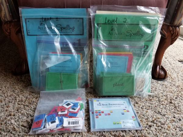 Photo All About Spelling levels 1  2 - $40 (Keizer)