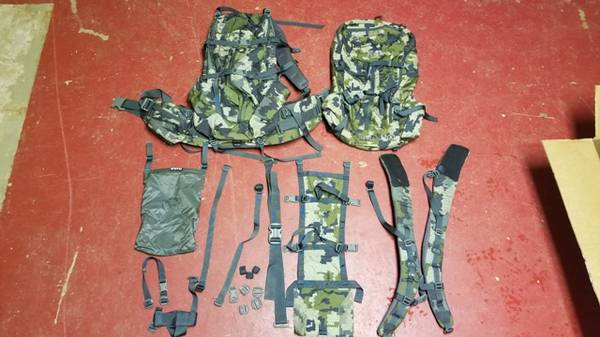 Photo KUIU Icon Pro pack setup, Verde 2 packs, carbon frame, accessories - $475 (West Salem)