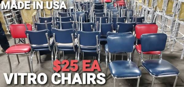 Photo Quality Used Restaurant Chairs  Tables - $25 (Prestige Worldwide Sales LLC)