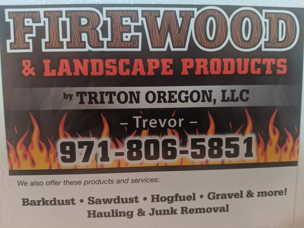 Photo Season firewood for sale barkdust  gravel  sawdust  sand  soil - $150 (Free delivery some areas)