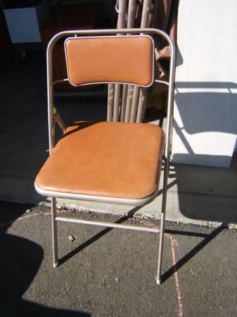 Photo Set of 4 Vintage Samsonite Padded Folding Metal Chairs - $120 (NE Salem)