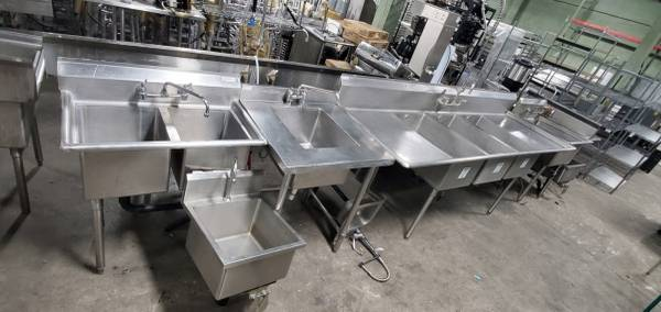 Photo Several Used Stainless Steel Sinks on SALE Now - $150 (Prestige Worldwide Sales LLC)