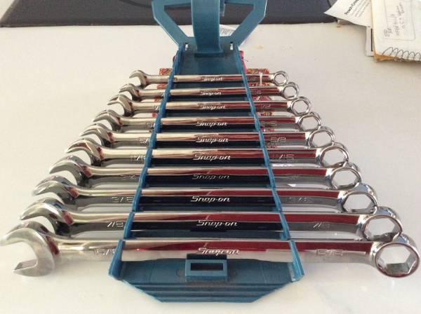 Photo Snap On SAE Wrench Set - $275 (Salem)