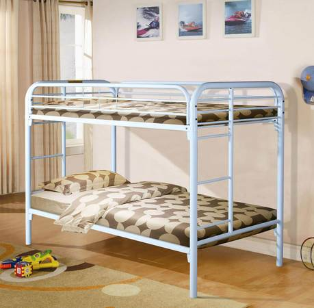 Photo White Twin over Twin Bunk Bed - $140