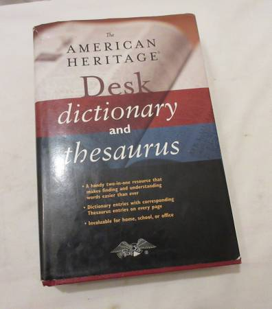 Photo American Heritage Desk Dictionary and Thesaurus New - $2 (Lincoln)
