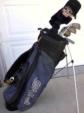 Photo CALLAWAY BIG BERTHA  PING knockoffs PAL JOEY golf clubs  PING bag - $220 (LINCOLN)