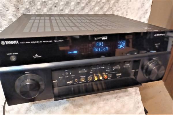 Photo Yamaha AVENTAGE RX-A1000 Natural Sound AV Receiver W Remote Bundle. - $250 (se lincoln ne)