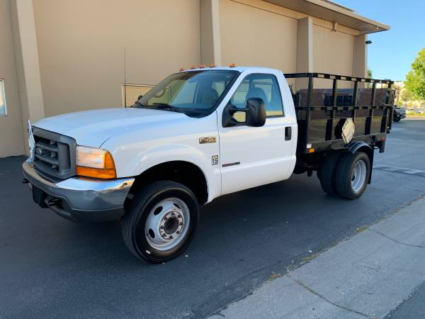 Photo 2000 FORD F450 Super duty 7.3 Diesel custom flatbed 9ft - $5,900