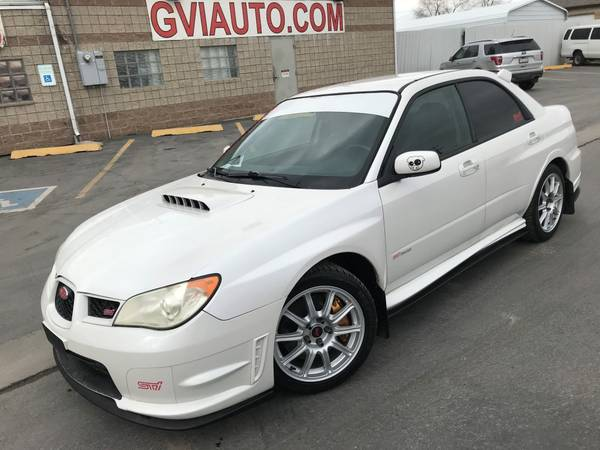 Photo 2007 Subaru Impreza WRX STI Sedan Stock White Pearl Wingless - $15595 (Salt Lake City)