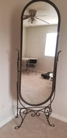 Photo Boudoir wrought iron full length mirror - $449 (Murray)