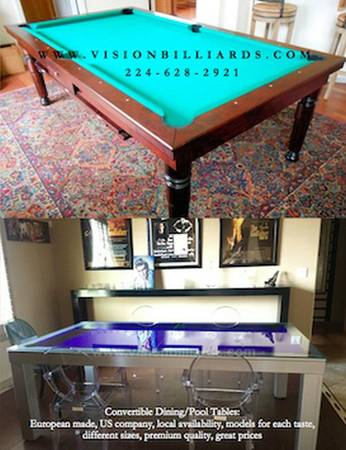 Photo Convertible Table - Dining conferenceor pool table - $3700 (salt lake)