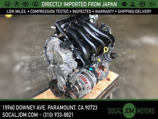Photo JDM 2007 TO 2012 NISSAN Versa 2009-10 CUBE MR18 MR18DE MOTOR ENGINE - $500 (Paramount)
