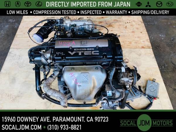 Photo JDM HONDA PRELUDE 1992 TO 1996 H22A OBD1 BLACK TOP MOTOR ENGINE - $1,100 (Paramount)