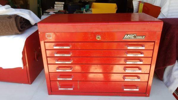 Photo Mac Tools MB-516 H4 Flip Top Tool Box 6 Drawers 2 Keys Made in USA - $500 (Las Vegas)