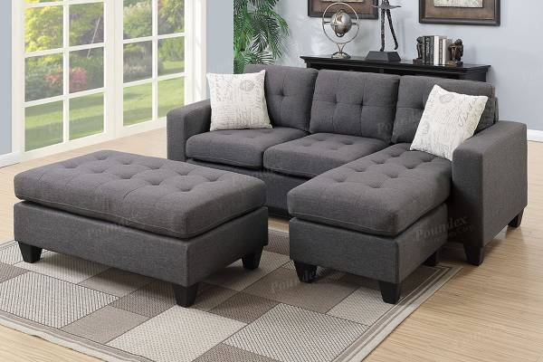 Photo NEW SECTIONAL with OTTOMAN  PILLOWS - NEW IN BOX - $399 (slc warehouse)