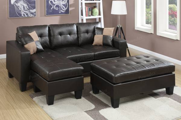Photo NEW SECTIONAL with OTTOMAN  PILLOWS - NEW IN BOX - $419 (slc warehouse)