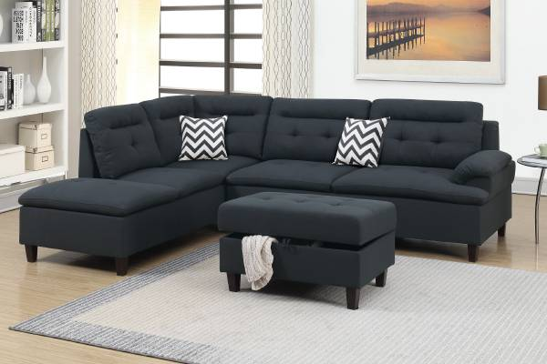 Photo NEW SECTIONAL with OTTOMAN  PILLOWS - NEW IN BOX - $549 (slc warehouse)