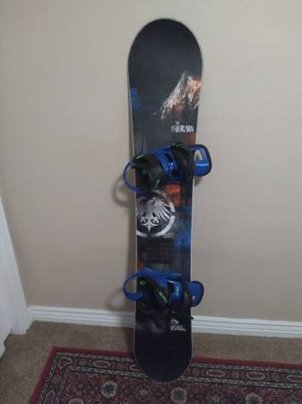 Photo Never Summer Snowboard  Burton Cartel Bindings - $600 (Salt Lake)