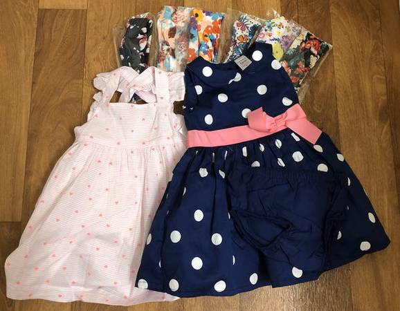 Photo Polka Dot Dress  Heart Dress  Rabbit Ear Headbands  12 - 18 Month - $20 (Salt Lake City - Sandy)