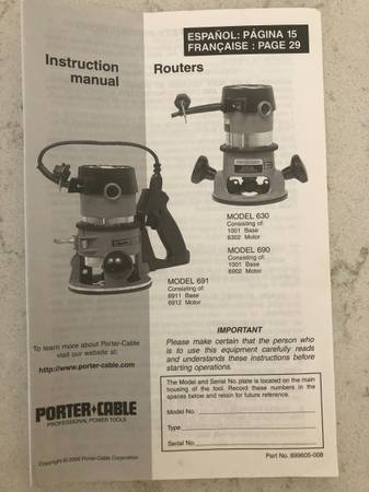 Photo Porter-Cable Router Model 690 - $125 (American Fork)