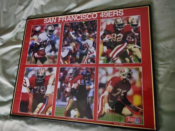Photo San Francisco 49ers Joe Montana John Taylor Pierce Holt John Rathman K - $30 (Sandy)