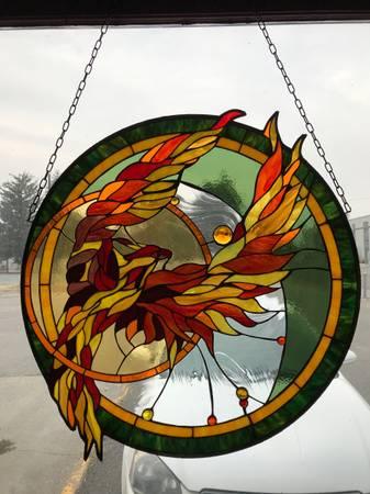 Photo Stained Glass Phoenix Rising - $450 (Blackfoot)